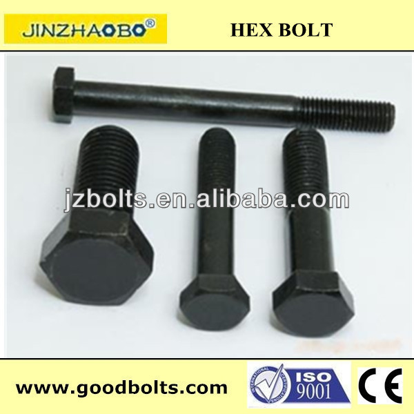 Hexagon head bolt grade 8.8/10.9 black finish/half thread