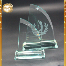 Fashion hot-sale crystal art glass cube trophy