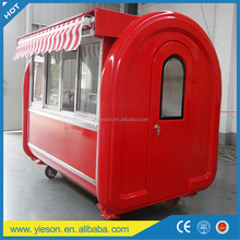 Snack food trailer/mobile camping kitchen car food truck with CE