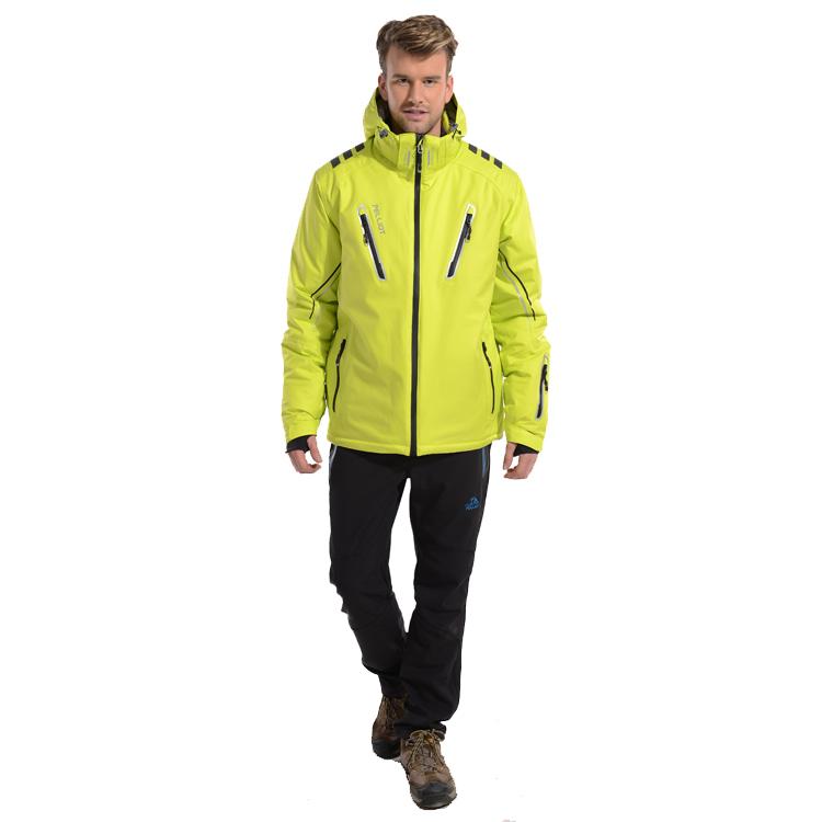 Custom Men Winter Windproof Waterproof Snowboard Ski Suit ski snow wear Jacket with Hoodie Anti-Virus