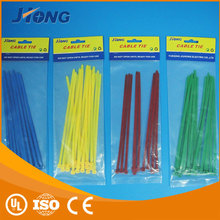 Customized adjustable self gripping hook and loop markers heat resistance nylon cable tie