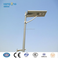 IP67 Rating energy saving solar led street light with aluminum lamp body and die cast lighting pole of best price