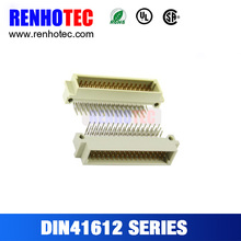 Dongguan supplier 2.54mm pitch 32pin DIN 41612 male DIN connector