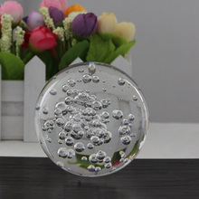 Shining Crystal Glass Bubble Ball Paperweight Glass Sphere Figurines Decoration