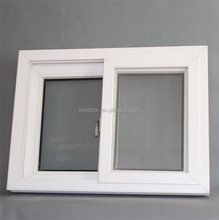 Three tracks windows with fly-screen, cheap sliding Vinyl window for building program