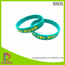 eco-friendly custom promotional gifts color filled silicone wristband