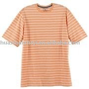 man short sleeve striped pieced T shirts