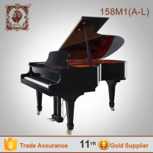 88 Keys Most Competetive black polished grand piano 158M1(A-L)