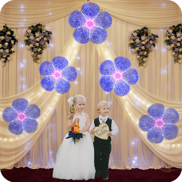 attractive led lighting flower for wedding decorations