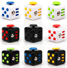 ELEKMALL 2017 New Relieves Anxiety Desk Toys Anti Stress Fidget Cube