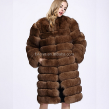 Real Whole Skin Fox Fur Coat Imitation Sable Natural Fox Fur Outwear Coats