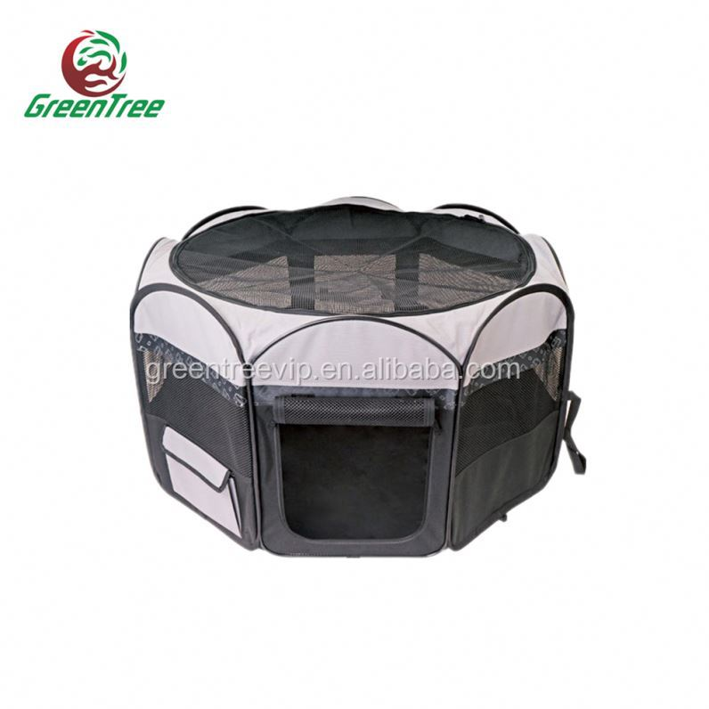 Comfortable Dog Runs Playpen Kennel With Fight Guard Dividers Top Door