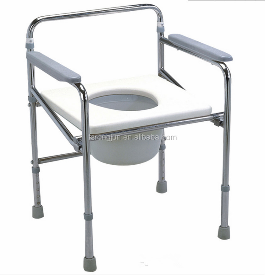 height adjustable toilet chair plastic commode /toilet seat chair RJ-C819