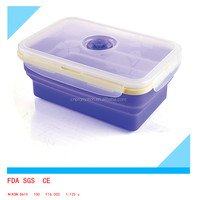 Food Grade Collapsible Silicone foldable food container set ,stackable food container set