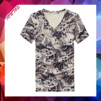 korea wholesale new model men's high quality t-shirt
