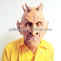Custom Terror Serious Old Human With Horn Adult Mask for Halloween