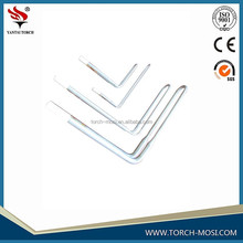 CHINA SUPPLIER 1800 silicon carbide furnace heating element fur furnace mosi2 +heating +elements w-type