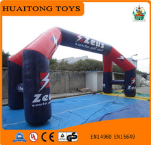 huaitongtoys most attractive 0.6mm thickness PVC tarpaulin inflatable arch for sale/inflatable event archway