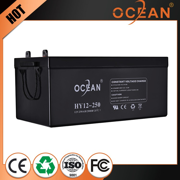 Newest beautiful 12V 250ah fast delivery lead acid battery