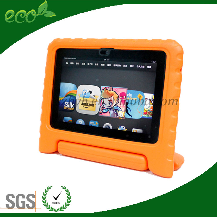 multi functions convertable stand portable rubber handle EVA foam tablet pc case for ipad mini