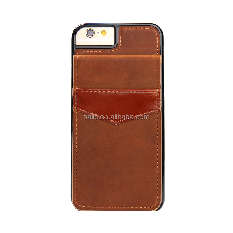 2016 leather back cover wallet phone case for iphone 7,for iphone 7 leather back case China supplier