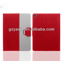 2015 big promotion hot sell for appe ipad air 2 pu leather case / for ipad air 2 protector leather case with kickstand