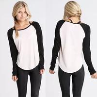 Custom Ladies T Shirt Printing Long Sleeve Jersey Tshirt LN1025