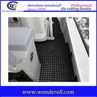 cheap price outdoor black round dots 3 MM rubber floor for boats Non-slip boat deck rubber flooring