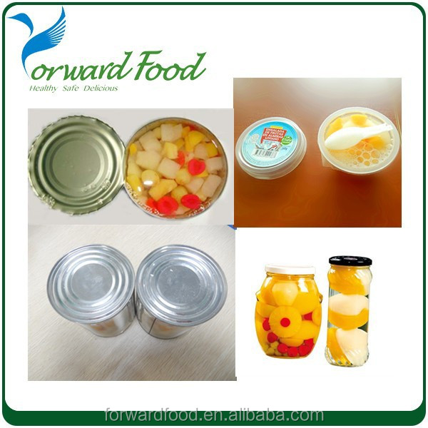 assorted fruit in cup canned fruit cocktail