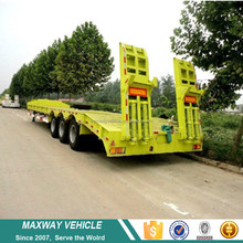 3 axle excavator transport low bed truck trailer