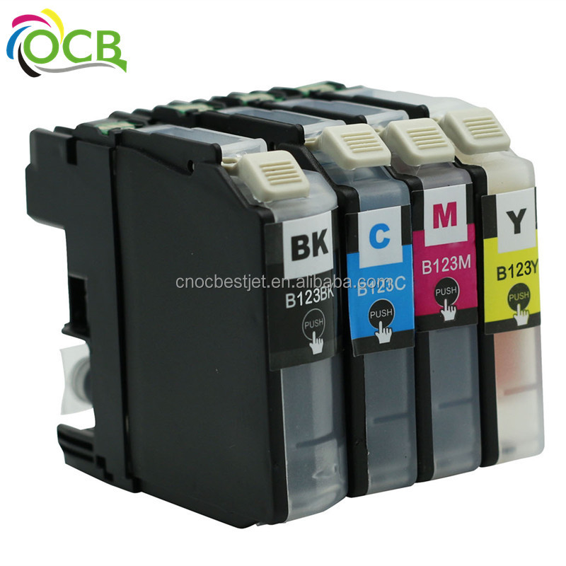 Ocbestjet LC <strong>123</strong> for Brother Compatible ink cartridge with chip MC-J4510J552DW