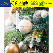 Hot selling plastic clear christmas ball, indoor&outdoor decoration lights