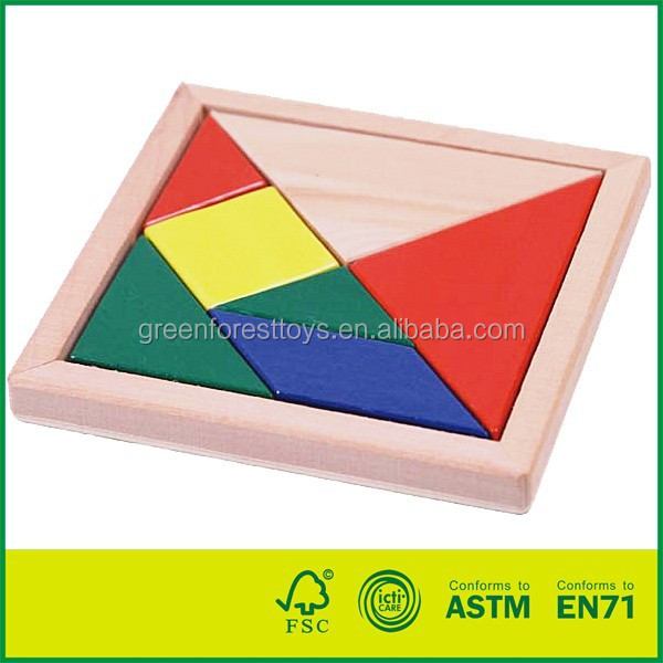 Wooden Pieces Tangram Puzzle