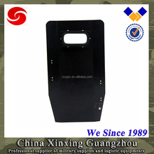 "19"" x 34"" Dark Blue Single Hand held ballistic shield with viewport"