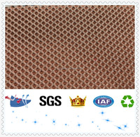 D105 100% poly sandwich mesh materials fabricated shoes bag parts