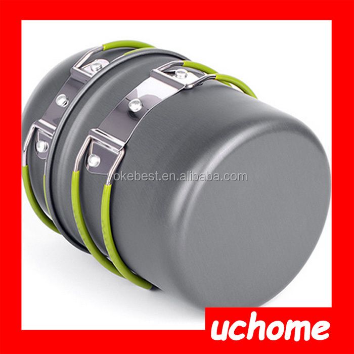 UCHOME High quality aluminum camping hiking picnic cookware outdoor cooking set for sale