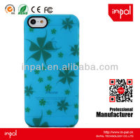 Rubberized blue clear crystal hard case back cover for iphone 5