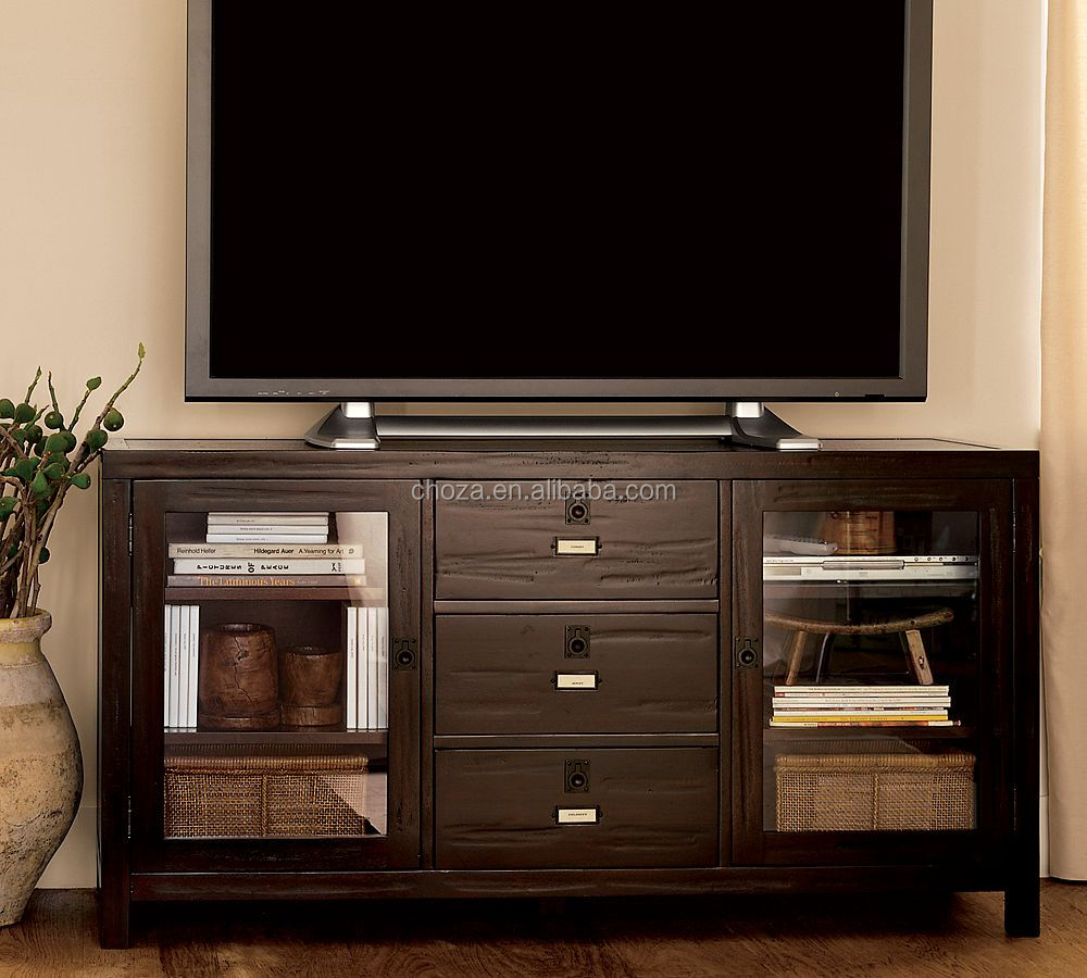 F40518A-1 New type american furniture long wood tables led tv stand/cabinet