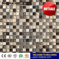 Construction company glass marbles soluble salt mosaic tiles