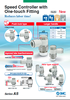 Easy to use flow control valve one-touch fitting speed controller