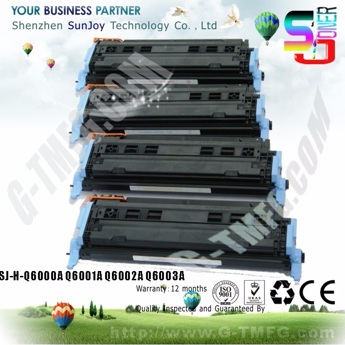 Factory direct sales color comatible 124A Toner Cartridge Q6000A for Color LaserJet 1600 2600 2600N CM1015 CM1017