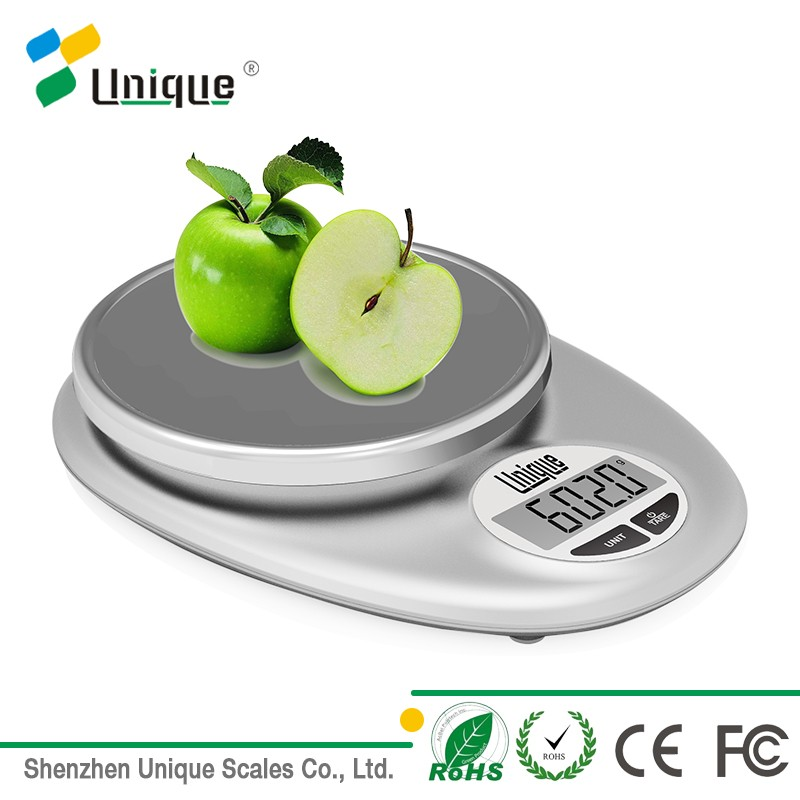 Small electronic 5kg nutrition digital food fruit and vegetable scales for kitchen