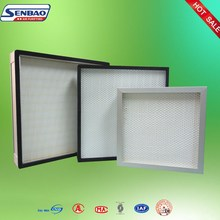 Mini-pleat Hepa Panel Air Handling Unit Air Filter For Clean Room