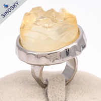 Good quality new style new design alloy fashion fake diamond finger ring