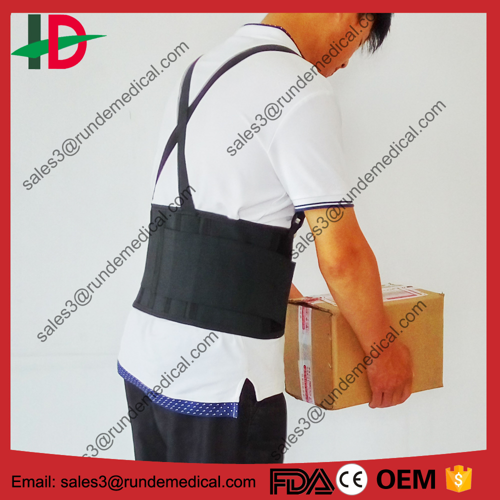 Men's Lower Back Brace Support Belt for Heavy Lifting