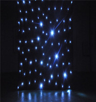 HI-COOL star black cloth lighting /led star light effects/red green blue white led star curtain