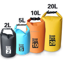 Wholesale price lightweight waterproof dry bags with shoulder strap for camping