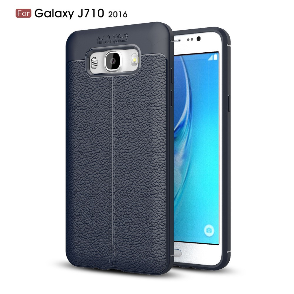 2017 New Design Carbon Fiber Lichee Pattern For Samsung Galaxy J7 2016 Soft TPU Case For Samsung Galaxy J7 2016