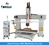 China CE supply 360 degree rotation 5 axis /mini 4 axis cnc machinery for different materials