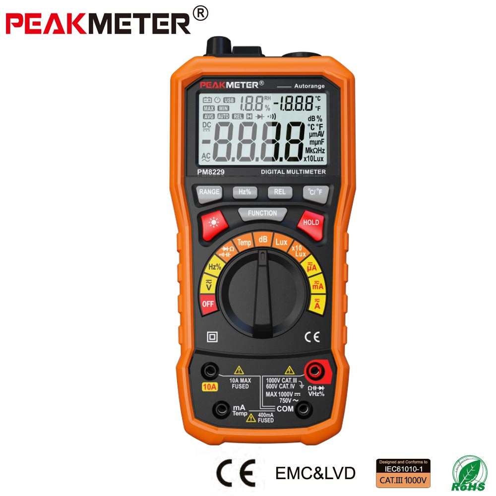 2017 low price best sale MS8229 LCD Professional Multi-functions 4000 counts 5 in 1 PM8229 Multifunction Digital Multimeter